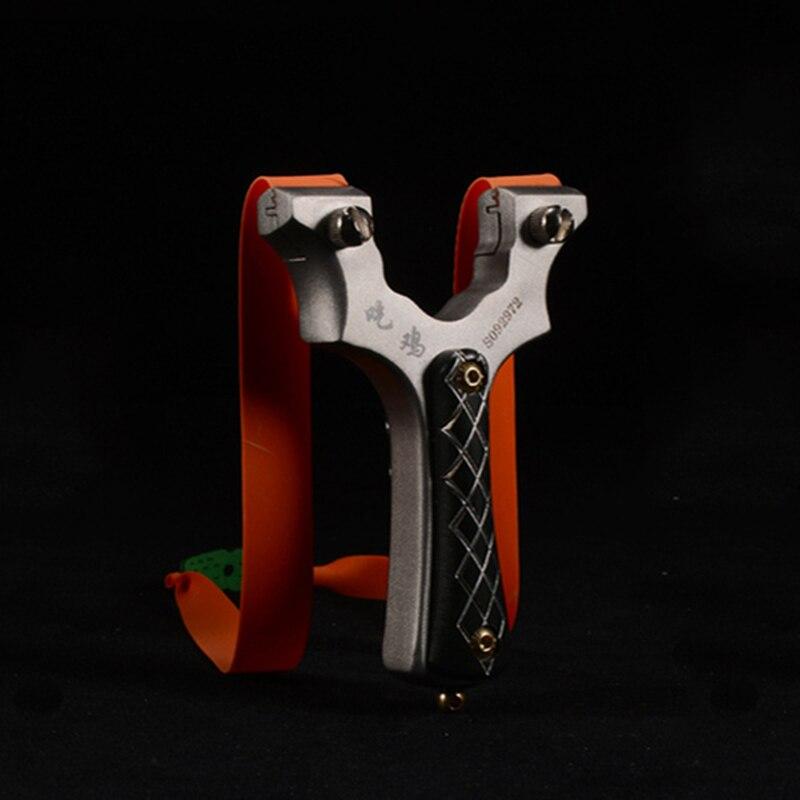 Slingshot охотничий катапульт мощный 440 Титановый стальной патч Slingshot плоский резиновый ремешок наружная съемка Новинка 2019