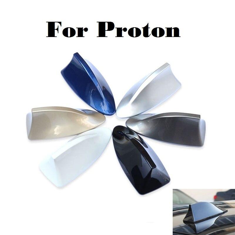 2017 Nuevo radio de coche de aleta de tiburón antena señal pegatinas para Proton Gen-2 Inspira Perdana Persona Preve Saga Satria waja estilo de coche