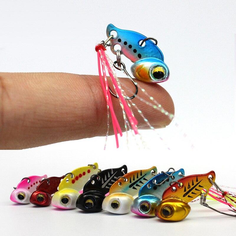 6 unids/pack mini metal VIB 3g 6g señuelo de pesca señuelos duros sumergido acción de hundimiento vibración wobbler cebo