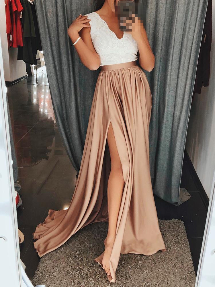 2018 Summer Long Dress AU Womens BOHO Long Maxi Evening Party Summer Beach Dress Sundress Two Color Four Size