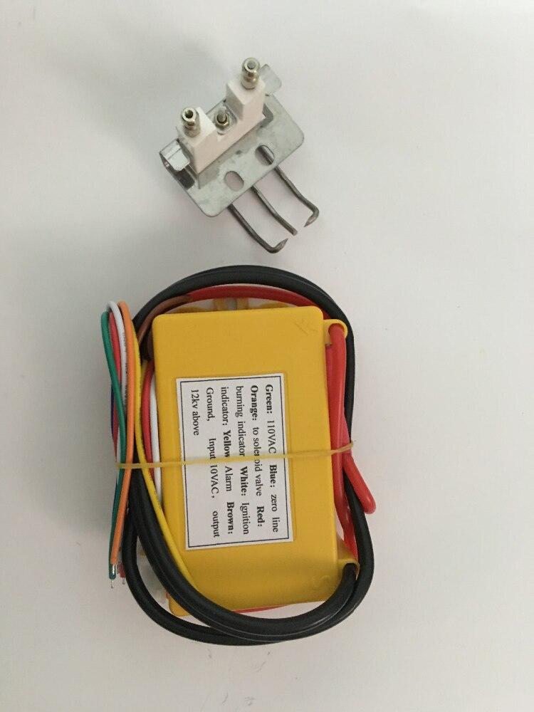 110VAC трансформатор зажигания газа с свечи зажигания высокой мощности выход регулятор зажигания газа газовый воспламенитель для горелки и н...