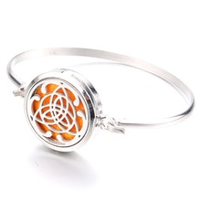 Beautiful Pattern Magnetic Stainless Steel Perfume Box Bracelet Aromatherapy Essential Oil Diffuser