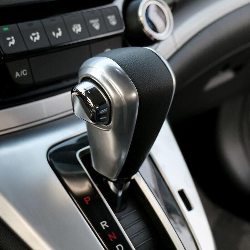 For Honda CRV CR-V 2012 2013 2014 2015 2016 ABS Matte Car Gear Covers Case Automatic Shift Knob Cover trim accessories 2pcs