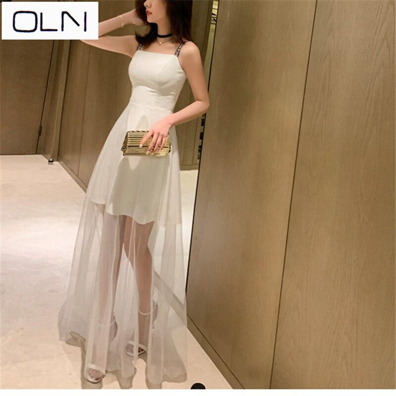 OLN vestido Coreano Vestidos de verão new arrival atacado 2019 포장 de vestido nobre e elegante de forma magro vestido de malha mulheres mulheres longas do vestido