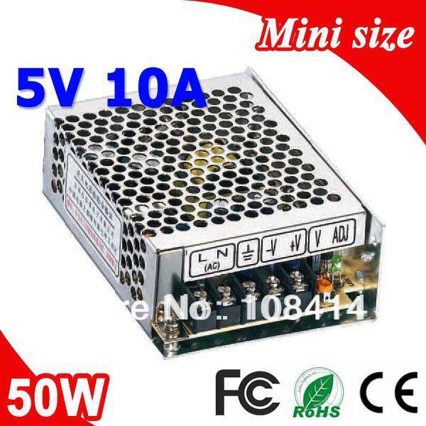 MS-50-5 50 W 5 V 10A Mini größe LED Schalt Netzteil Transformator 110 V 220 V AC zu DC 5 V ausgang