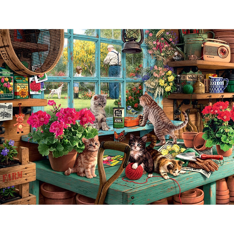 Полный квадратный алмаз 5D DIY Алмазная вышивка кошка в доме Алмазная Картина Вышивка крестом горный хрусталь мозаика украшение CX