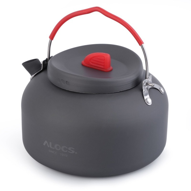 DSGS ALOCS 1.4L alúmina dura al aire libre tetera Camping senderismo pesca barbacoa Picnic agua tetera cafetera CW-K06