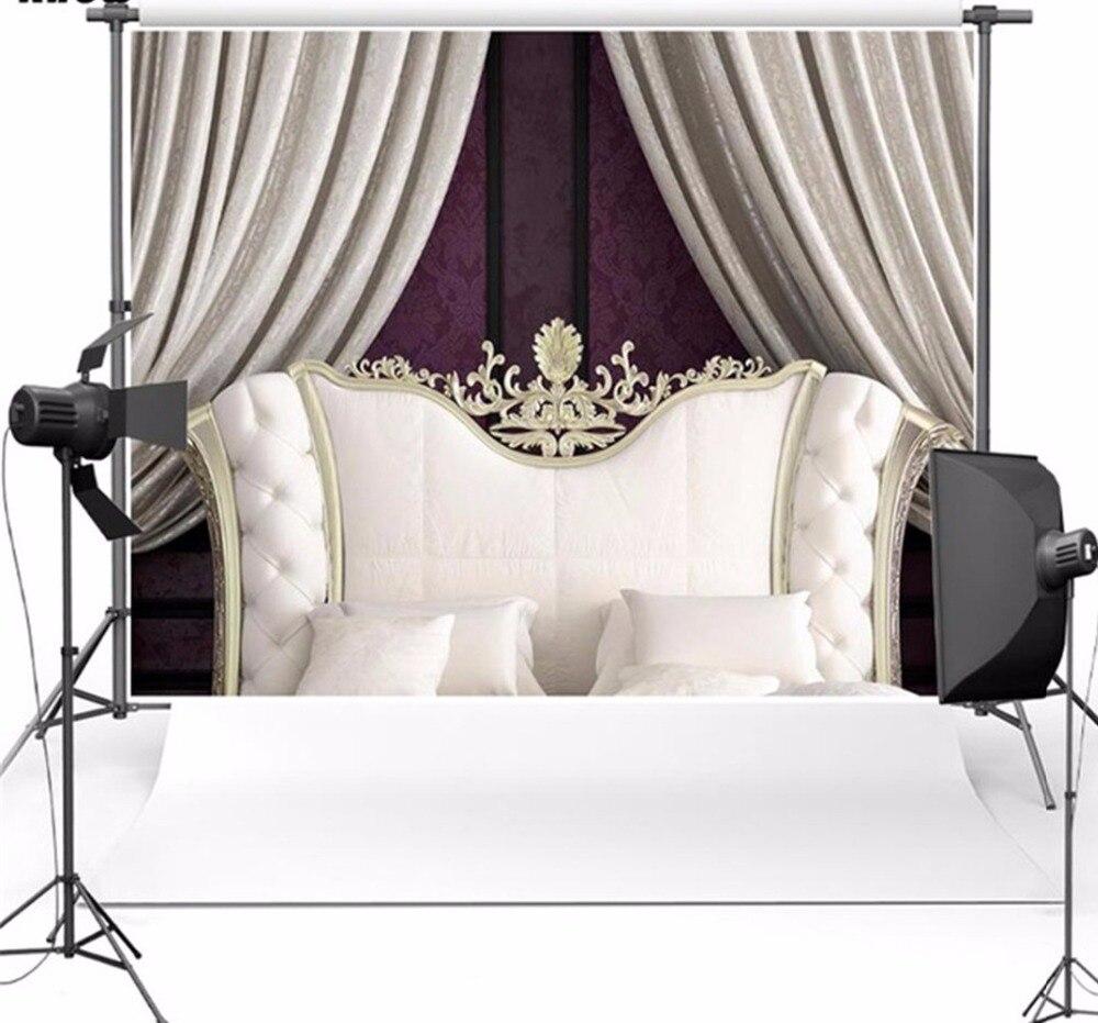 Fondo fotográfico sala de estar cortina gris cabecera blanca fondo fotográfico para boda baby shower estudio telón de fondo