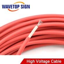 Fil de plomb positif rouge de câble à haute tension de 40KV 22AWG pour lalimentation dénergie de Laser de CO2 et le Tube de Laser et la découpeuse de gravure