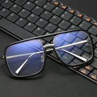 VCKA Anti Blue light Glasses Frame women Oversized metal Goggles Radiation-resistant Square Computer men Gaming Eyewear