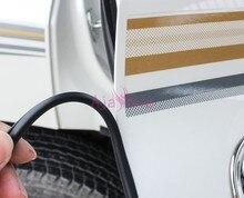 Pare-chocs pour Toyota Land Cruiser Prado FJ 150   Dispositifs de moulage de porte, pour le coffre arrière, rayures noir et blanc, accessoires 120