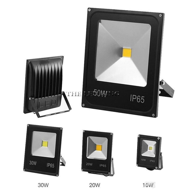 1PCS Ultradünne LED Flutlicht 10W 20W 30W 50W 100W IP65 85-265V Led-strahler Reflektor Außen Beleuchtung Wand Lampe Flutlicht