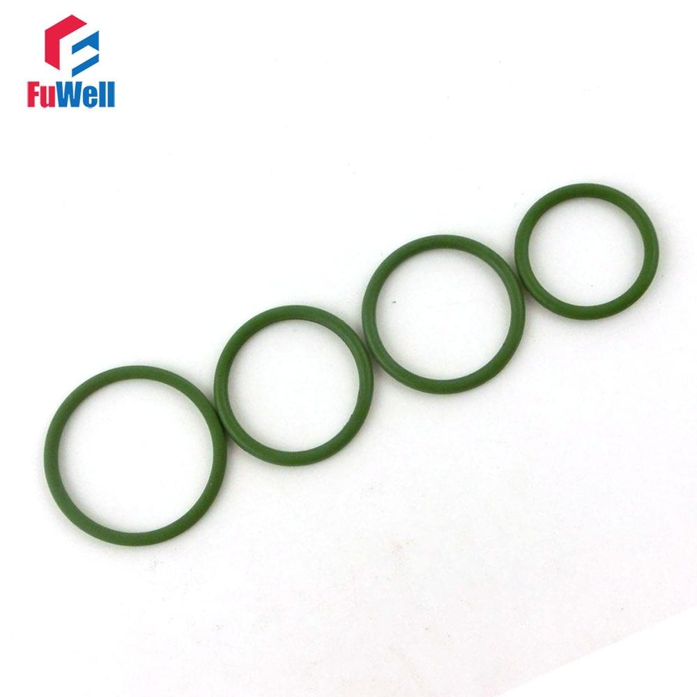 20 pcs Seals Junta FKM o Anel de 3.5 milímetros de Espessura Verde 23/24/25/26/27 /28/29/30/31/32/33 milímetros OD Flúor Borracha O-anel de Vedação