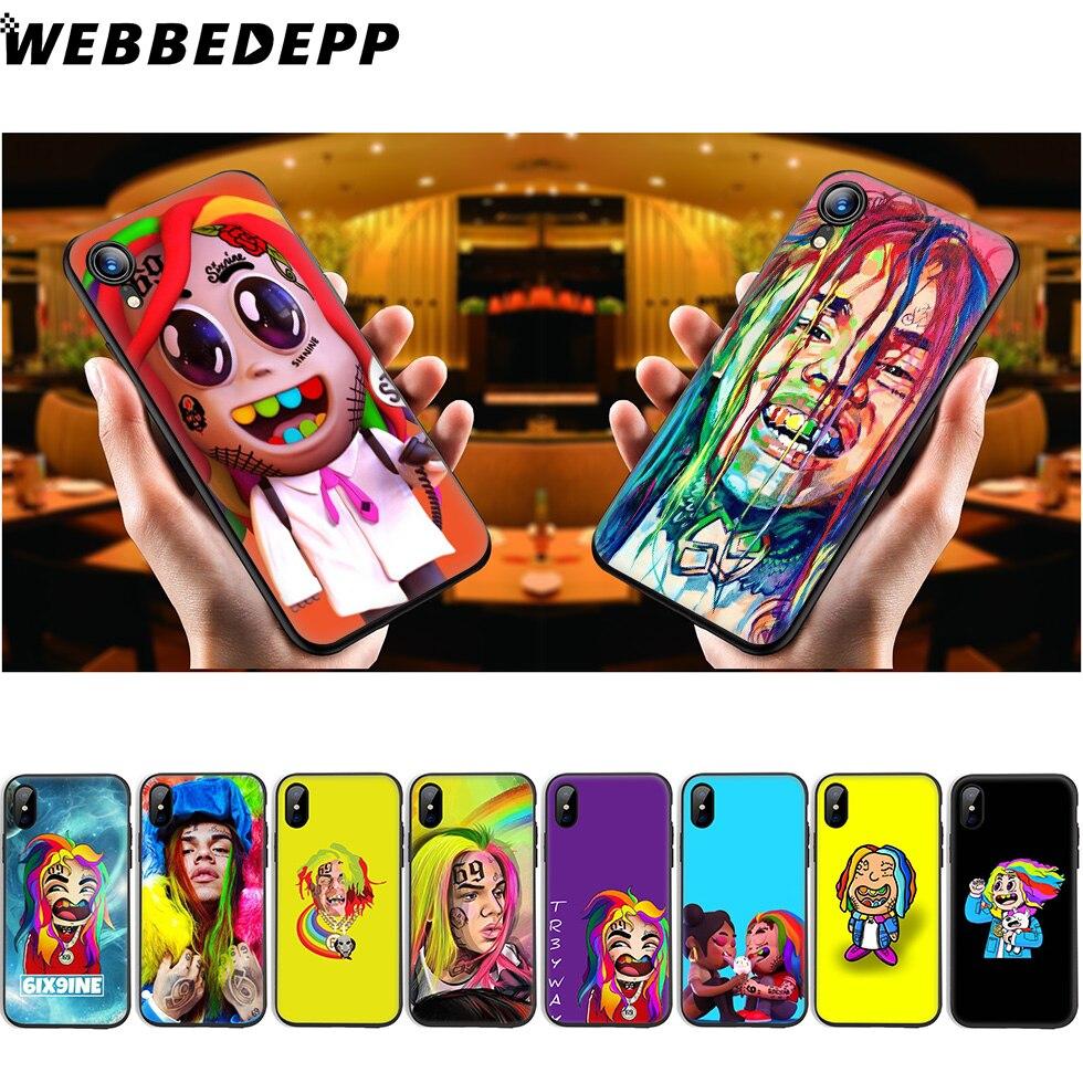 WEBBEDEPP 6ix9ine Tekashi, funda de silicona suave para iPhone 11 Pro Xr Xs Max X o 10 8 7 6 6S Plus 5 5S SE Case 8 Plus