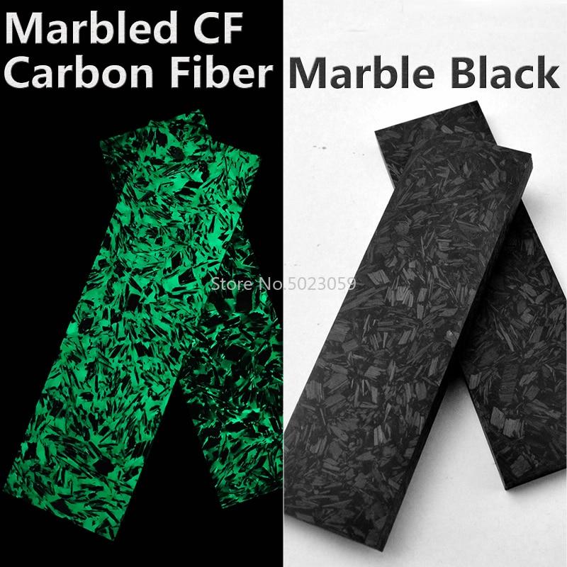1Piece Noctilucent Marbled CF Carbon Fiber Block Ripple Resin Tool for DIY Knife Handle Craft Supplies 137x40x8mm