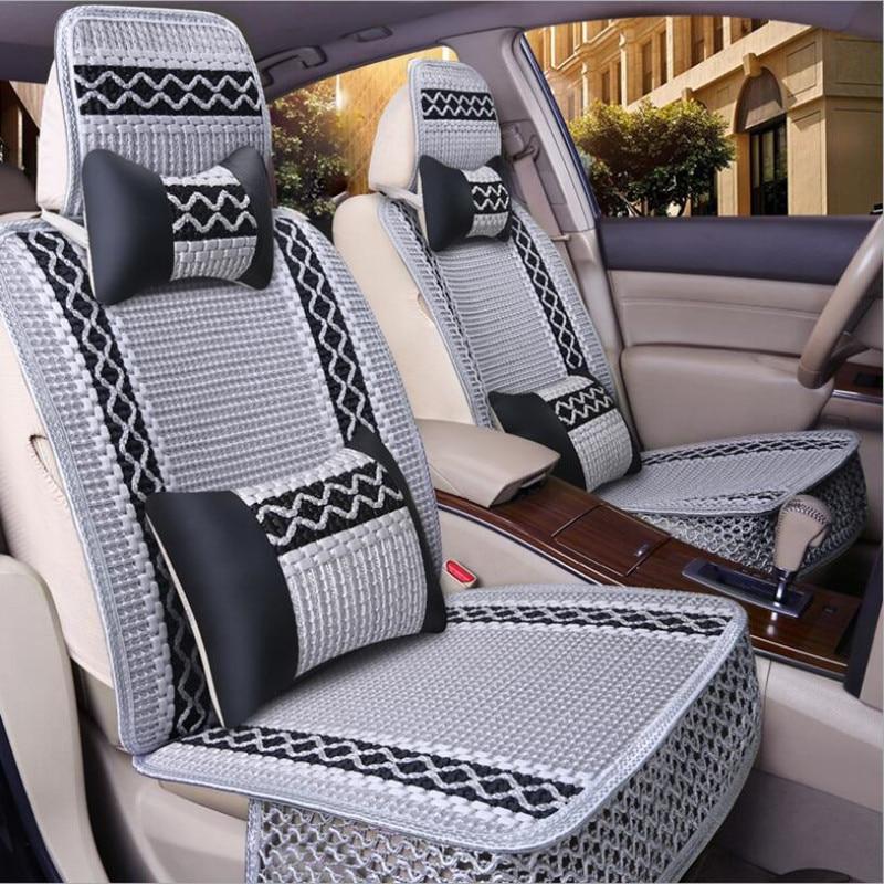 Universal Ice silk car seat covers For Chevrolet Cruze Captiva TRAX LOVA SAIL auto accessories car styling auto stickers