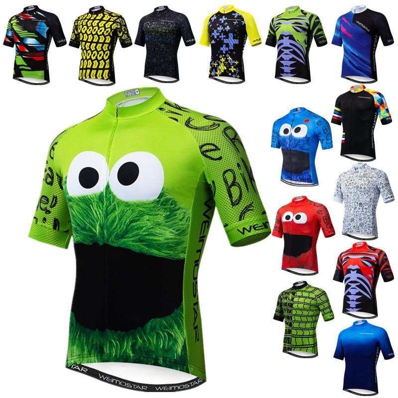 Weimostar-Camiseta de Ciclismo transpirable para hombre, Maillot para bicicleta de montaña, color...