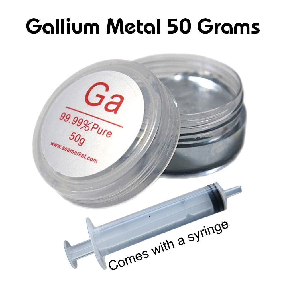 Metal de galio 50 gramos metal líquido 99.99% puro viene con jeringa gratis