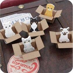 2 pçs/lote animal Bonito do gato colar pepalaria memo pad sticky note papel planejador adesivo kawaii papelaria material escolar escritório
