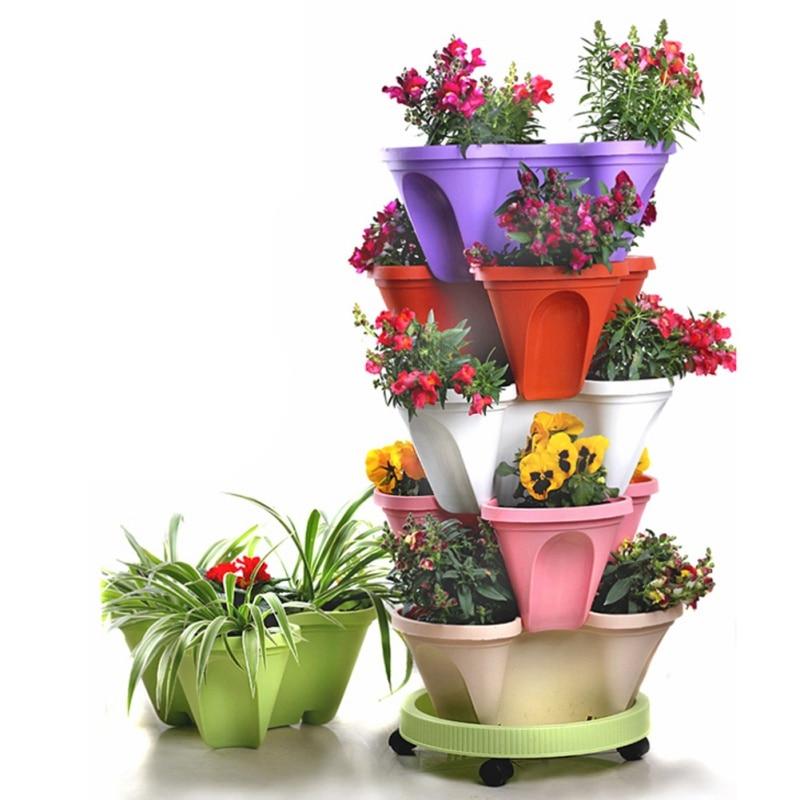 Pot de plantes stéréoscopique   Pot de plantes créatif maison, pot de plantes pour fleurs légumes décoration, pot de fleurs