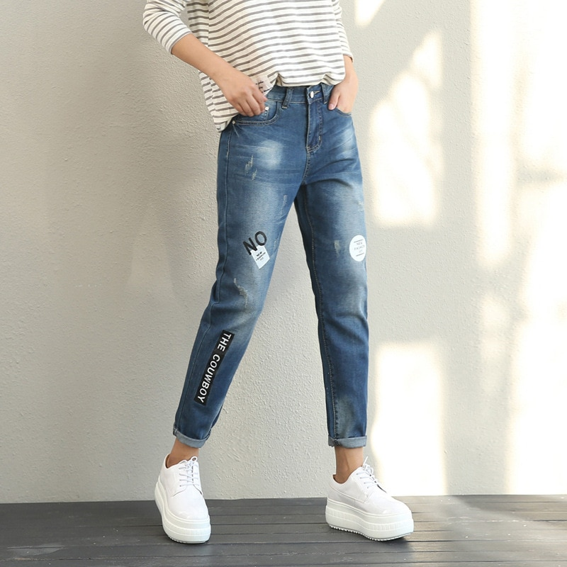 Cheap wholesale 2019 new Spring Summer Autumn Hot selling womens fashion casual  Denim Pants FP115
