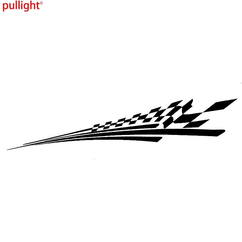 Carro corpo adesivos corrida checker bandeira lado listra decalques gráficos