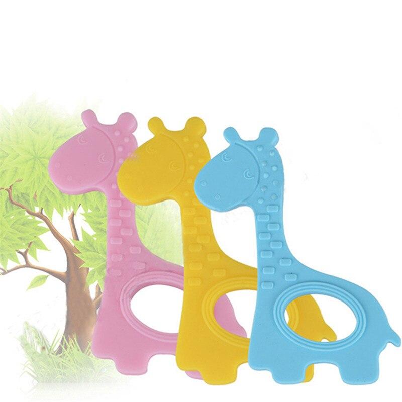 Mordedor para bebé con forma de jirafa, mordedor, de silicona, sin BPA, de grado alimenticio orgánico Natural