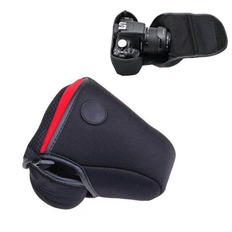 Neopreen Camera bag Cover Case voor Canon EOS 100D 200D 350D 400D 500D 550D 600D 650D 700D 760D 1000D 1200D 1300D 18-55mm pouch
