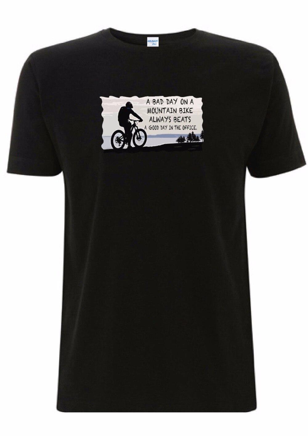 Camiseta de moda 2019 para hombre de motociclista de montaña Mtb un mal día en una montaña Biker Bmx Down Hill Racer Cycles camiseta sudadera