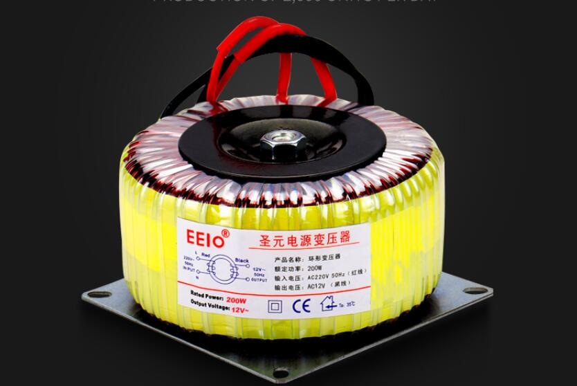 9V/12V/15V/18V/24V/36V/48V tranformer Toroidal transformer copper custom transformer 220V 110V 2.7A 200VA amplifier transformer