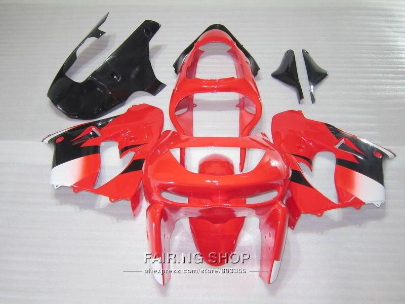 Горячая Распродажа, набор пластиковых обтекателей для Kawasaki ZX9R 98 99, красные черные белые обтекатели, набор ninja zx9R 1998 1999 XG13