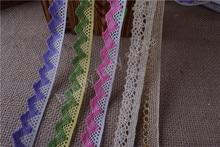 Fil en polyester et or 15yards   Crochet de coton, garniture de dentelle avec bordure, couture de mariage, vente en gros