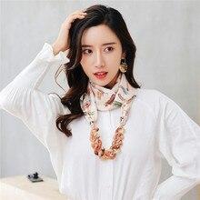 RUNMEIFA 2019 nouvelle mode pendentifs à la mode colliers Satin bijoux écharpe en alliage acrylique collier femmes accessoires livraison gratuite