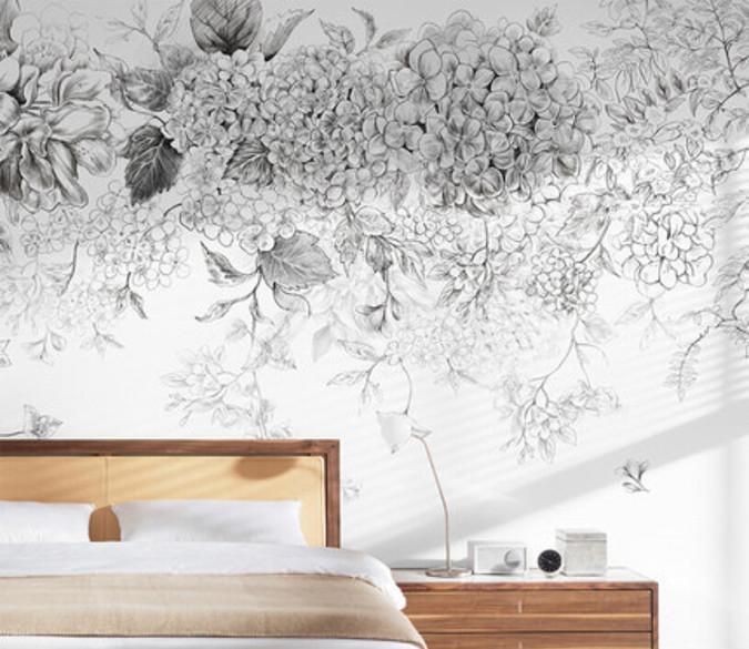 [Self-Adhesive] 3D Gray Pattern 685 Wall Paper mural Print Decal Murals