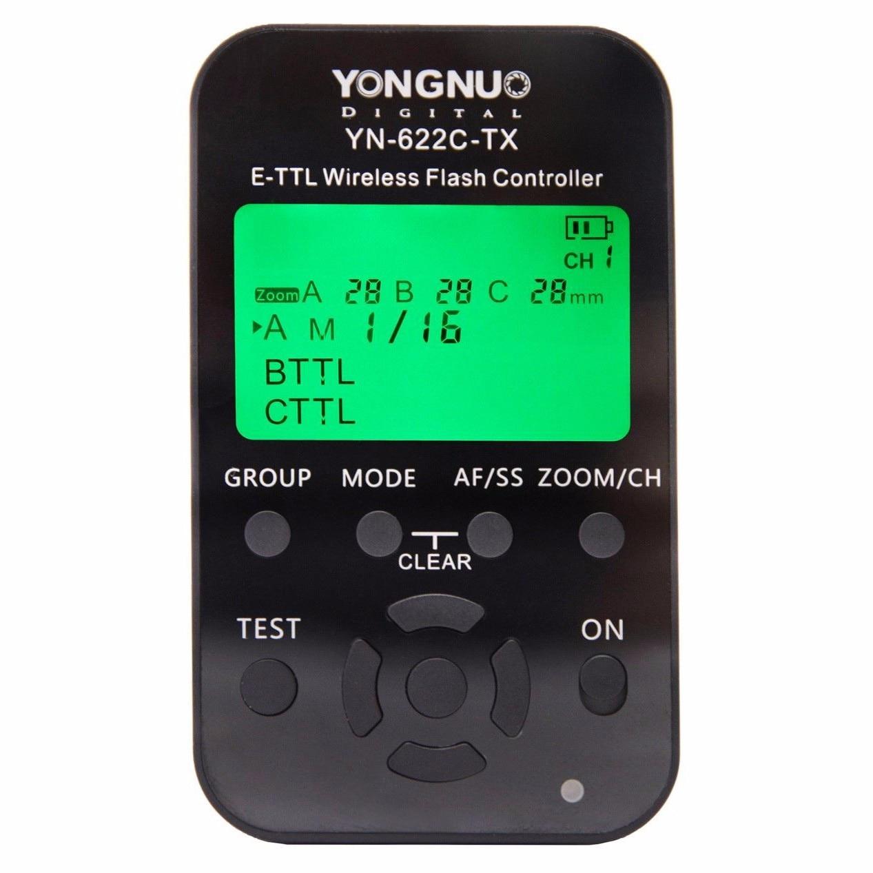 YONGNUO YN622C KIT YN622C-II-RX Single Transceiver Wireless E-TTL Flash Trigger Kit with LED Screen For Canon
