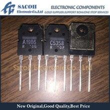 Livraison gratuite 10 paires 2SA1986 A1986 + 2SC5358 C5358 TO-3P 15A 230V BJT NPN + PNP Transistor damplification Audio de puissance