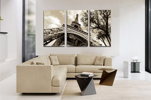 3 piece of canvas modern oil painting photos wall pictures square sitting room adornment city the Eiffel Tower in Paris