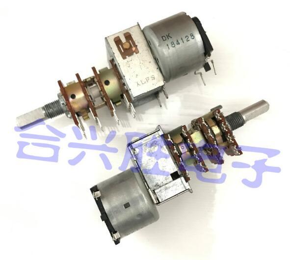 [VK]JAPAN ALPS B50K B50KX4 50KBX4 remote control motor potentiometer four 6030R 16 feet shaft 20MM switch