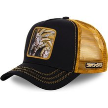 New Dragon Ball Z Mesh Hat Goku Baseball Cap High Quality Black & Yellow Curved Brim Snapback Cap Gorras Casquette hats