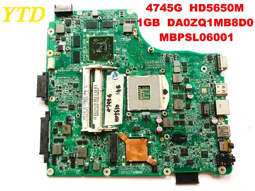 الأصلي لشركة أيسر 4745 4745G اللوحة المحمول 4745G HD5650M 1GB DA0ZQ1MB8D0 MBPSL06001 اختبار جيدة شحن مجاني موصلات