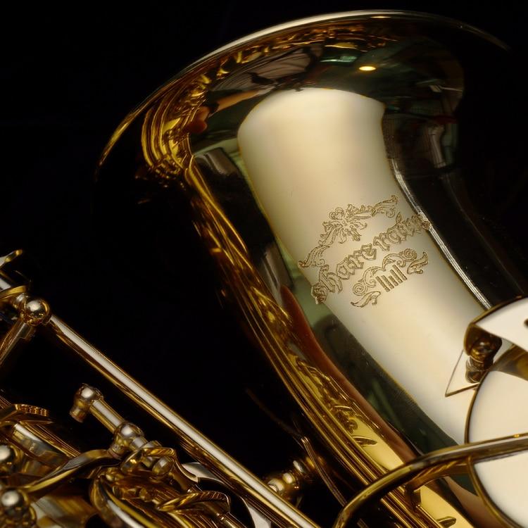 Saxofón saxofón Alto laca dorada Eb Musical profesional