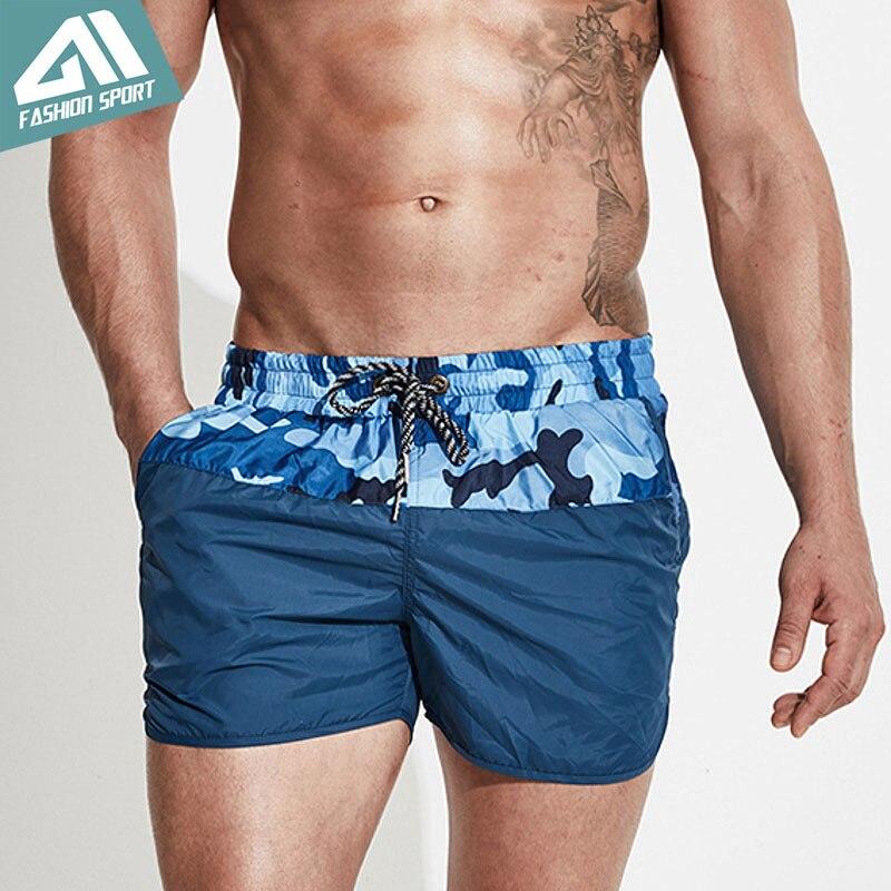 Retalhos calções de bordo camuflagem surf praia dos homens calções de natação atlético esporte correndo ginásio masculino shorts dt78