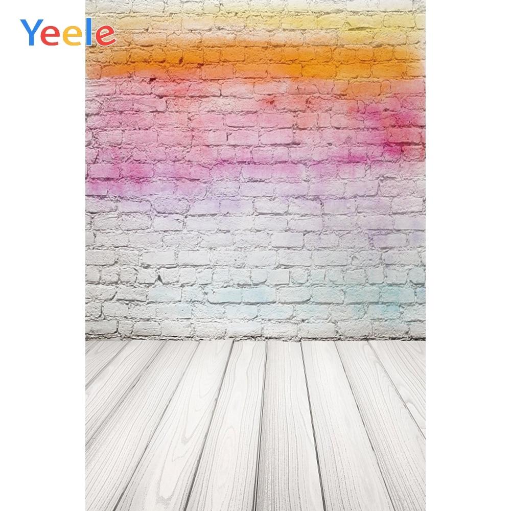 Yeele кирпичная стена деревянная доска радужные цвета градиентные фоны для фотосъемки индивидуальные фотографические фоны для фотостудии