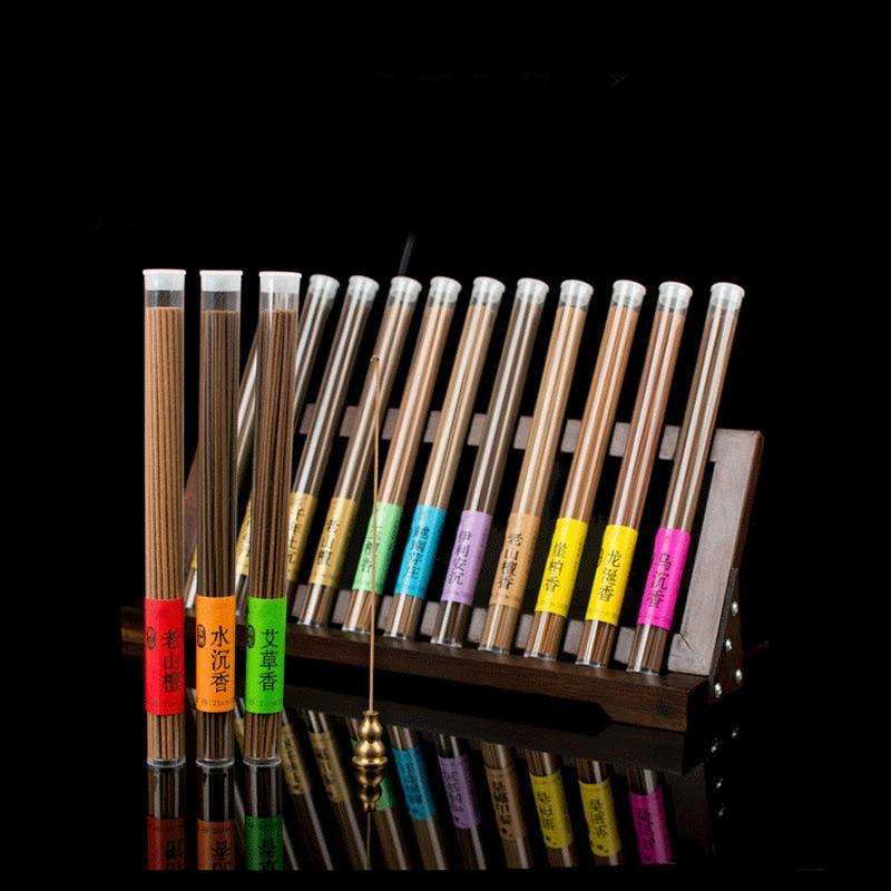 Aproximadamente 40 unid/caja Natural Aroma Aire Limpio interior especias de sándalo Stick quemadores de incienso 30min ambientador de aromaterapia