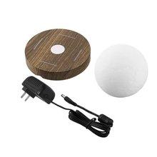 Lámpara de Luna 3D levitante magnética ICOCO 360 Base de madera rotada 10cm lámpara de noche flotante luz romántica hogar Deocr para dormitorio