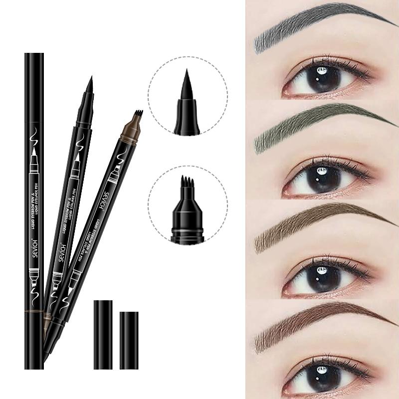 Sevich Eye Brow Tint Cosmetics Natural Long Lasting Paint Tattoo Eyebrow Waterproof 4 Colors Eyebrow Pencil Makeup Set