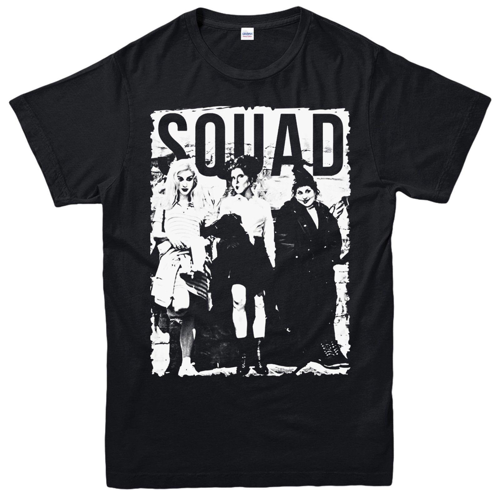 Camiseta de Squad Hocus Pocus Movie Halloween para adultos y niños camiseta Cool Casual pride t shirt hombres Unisex nuevo