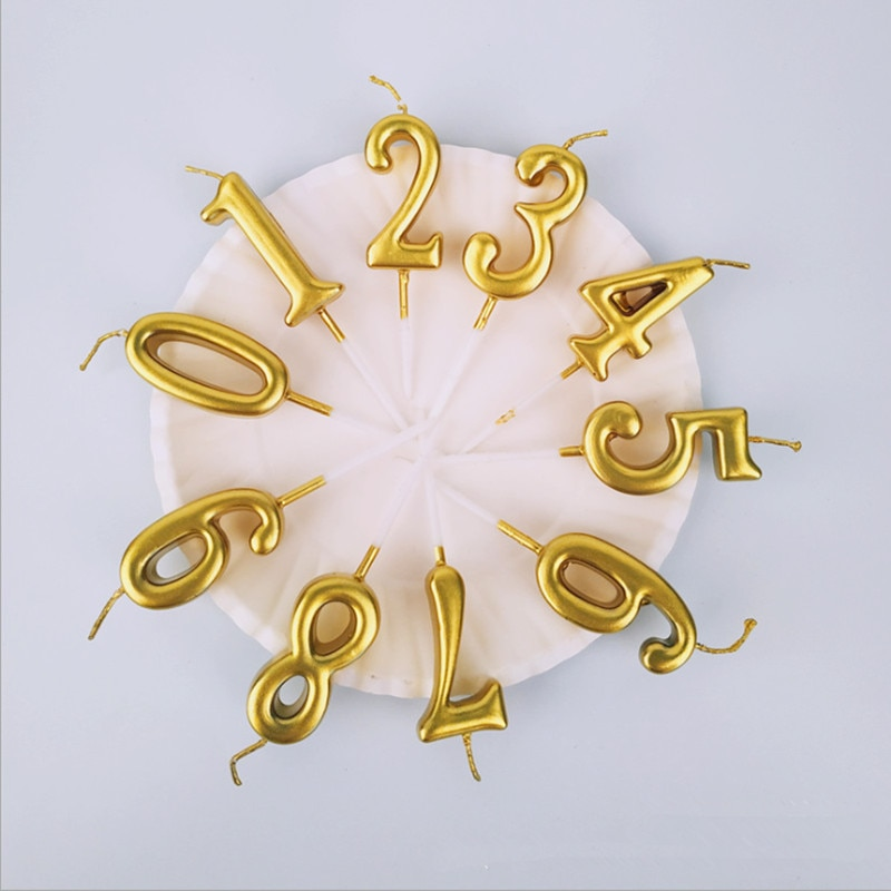 Золотое серебряное число, свечи для торта, мерцающие и сияющие свечи для торта, детские свечи для дня рождения, украшения для вечеринки