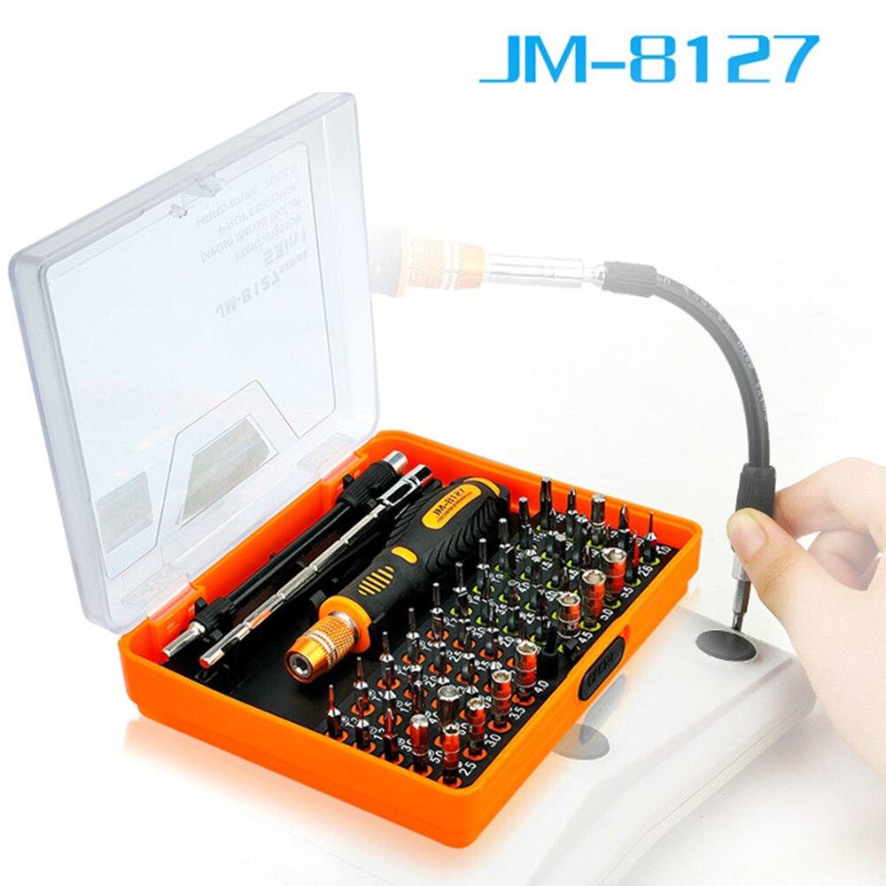 Набор телекоммуникационных инструментов 53 в 1 JAKEMY, Набор прецизионных отверток для ремонта дома, сотового телефона и компьютера