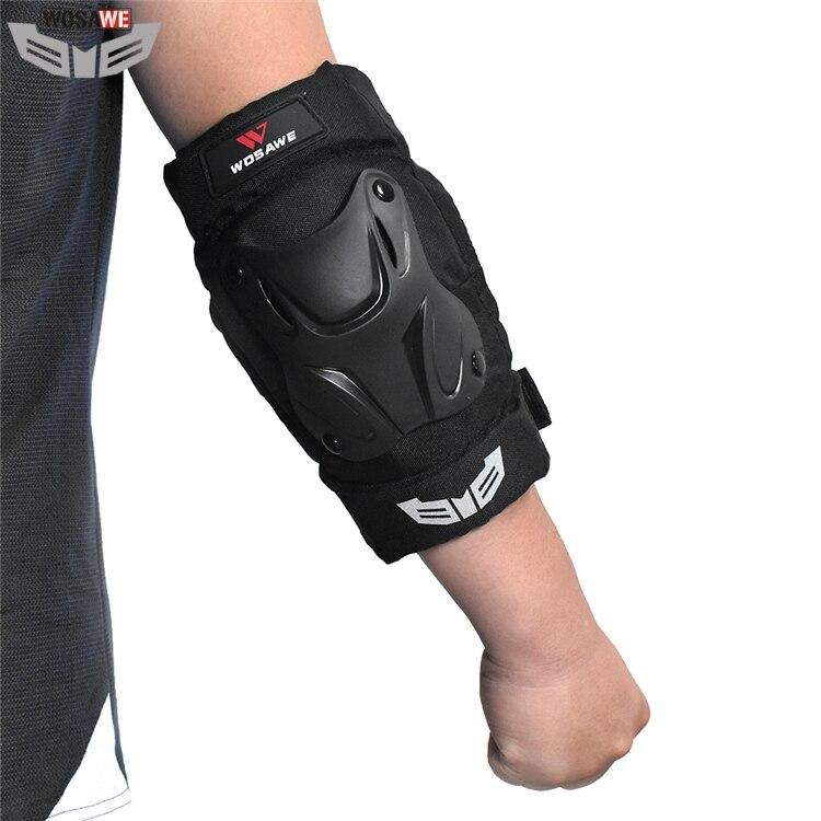 WOSAWE Moto rcycle codo de carretera moto Moto Cruz codo almohadillas adulto Snowboard voleibol ciclismo protector de brazo de equipo de protección